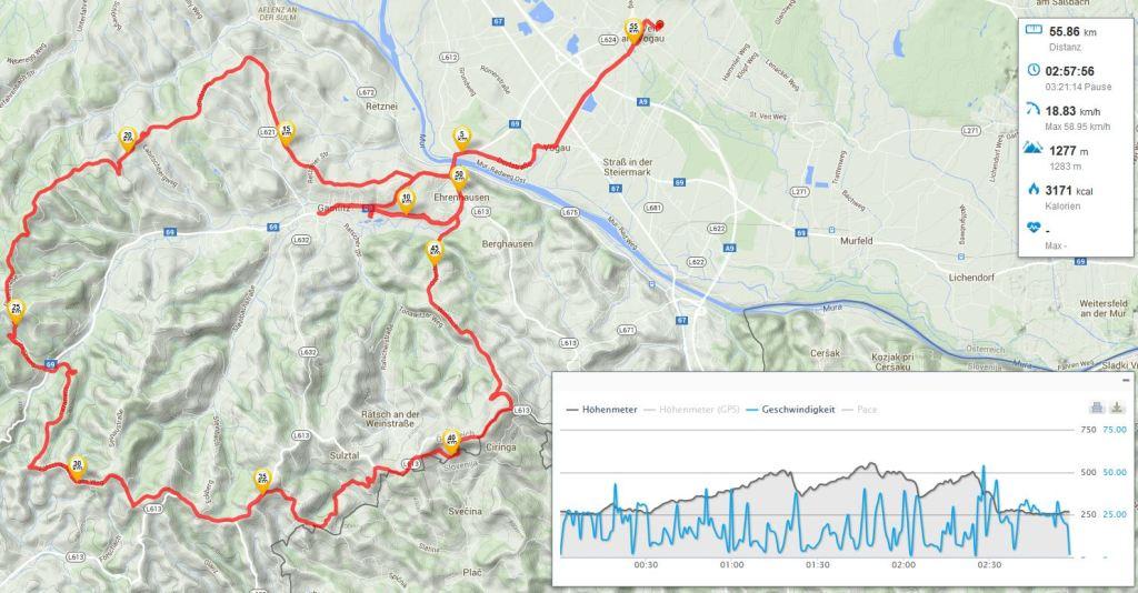 Gamlitz - Ehrenahsuen - Weinleiten Höhenstrasse